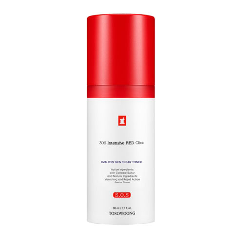 TOSOWOONG SOS Intensive RED Clinic Ovalicin Skin Clear Toner 80ml