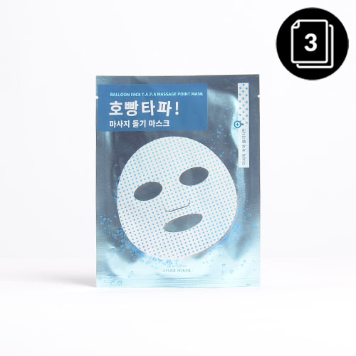 ETUDE HOUSE Balloon Face T.A.P.A Massage Point Mask 3ea