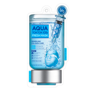 TOSOWOONG Aqua Tok Tok CO2 Mask 5sheets