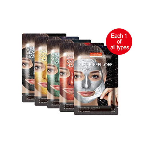 PUREDERM Galaxy Peel-Off Mask 10g*5ea (each 1 of all types)