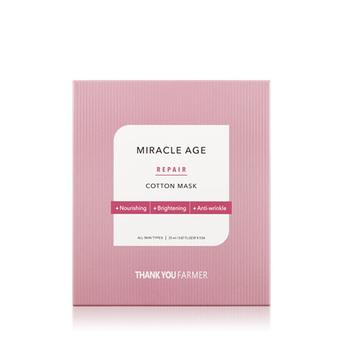 THANK YOU FARMER Miracle Age Repair Cotton Mask 5ea