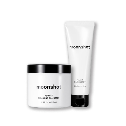moonshot Perfect Cleansing Foam 120ml + Cleansing Oil Cotton 45ea