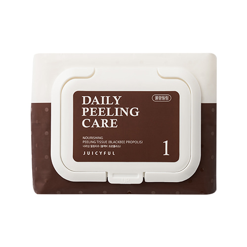 JUICYFUL Daily Nourishing Black Bee Propolis Peeling Tissue 22ea