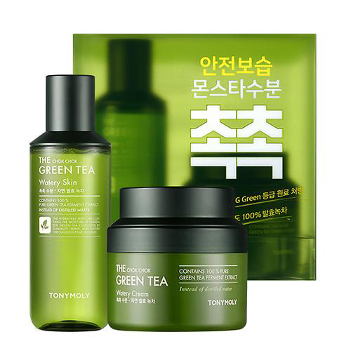 TONYMOLY The Chok Chok Green Tea Watery Cream Special Set