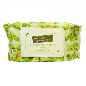 THE FACE SHOP Herb Day Cleansing Tissue 70